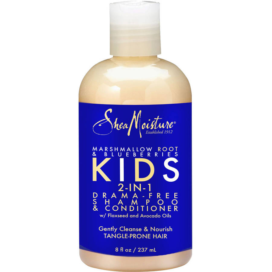 Shea Moisture Marshmallow Root & Blueberries Kids 2-in-1 Drama-Free Shampoo & Conditioner, 8 fl oz