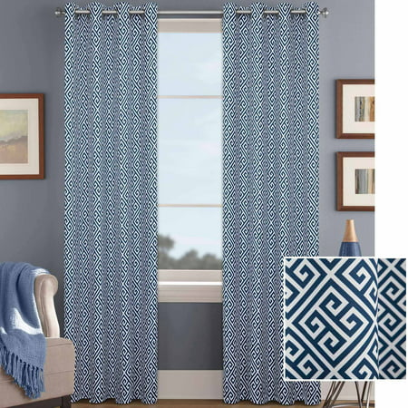 Better Homes And Gardens Greek Key Curtain Panel With Grommets
