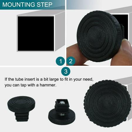 Adjustable Leveling Feet 20 x 20mm Tube Inserts Furniture Table Glide 2 Sets - image 5 de 8