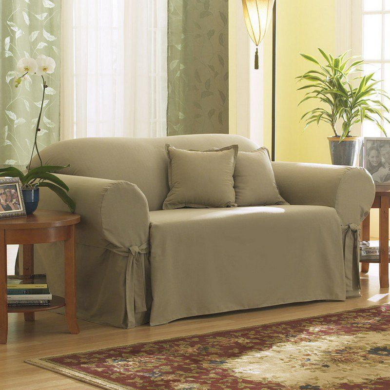 Sure Fit Slipcovers Cotton Duck Sofa Slipcover