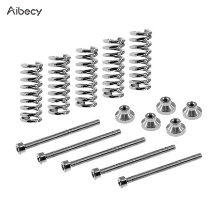 Aibecy M3 Screw Leveling Spring Knob Suite Leveling Component for 3D Printer Hot Bed/Platform Pack of 5 Sets - Gatsby Suits For Sale