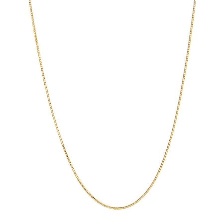 10k Yellow Gold Adjustable Box Link Chain Necklace 0.7 Mm 16-22 Inches