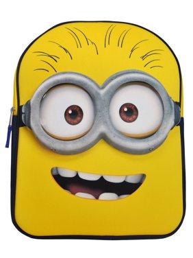 """Boys Minions 16"""" Backpack EVA Molded Yellow"""