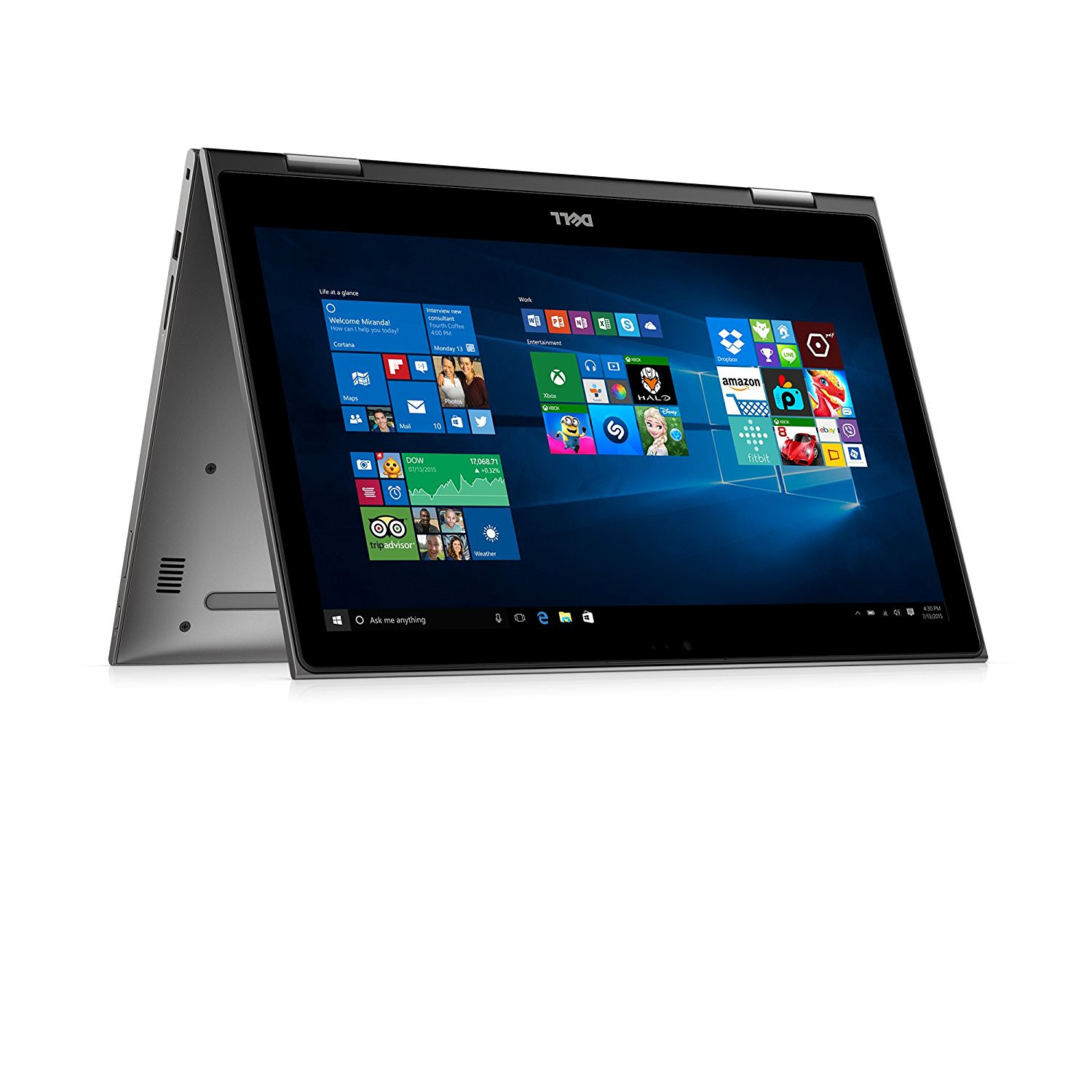 Inspiron 15 5000 2-in-1, i5579-7978GRY, 15.6-inch FHD Touch (1920 x 1080), Intel Core i7-8550U, 8GB 2400MHz DDR4, 1 TB 5400 RPM HDD, Intel UHD Graphics 620