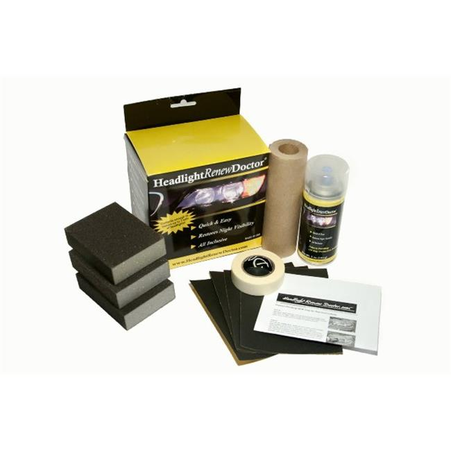 Headlight Renew Doctor HRD1003 Restoration DIY 3 Application Kit