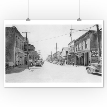 Virginia City, Nevada - View of Mark Twain Boulevard (9x12 Art Print, Wall Decor Travel Poster)