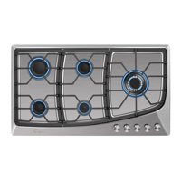 """Empava 36"""" 5 Italy Sabaf Burners Stove Top Gas Cooktop Stainless Steel LPG/NG Convertible EMPV-36GC901"""