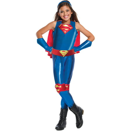 DC Girls Supergirl Child's Costume, Medium (8-10)](Supergirl Costume For Girls)