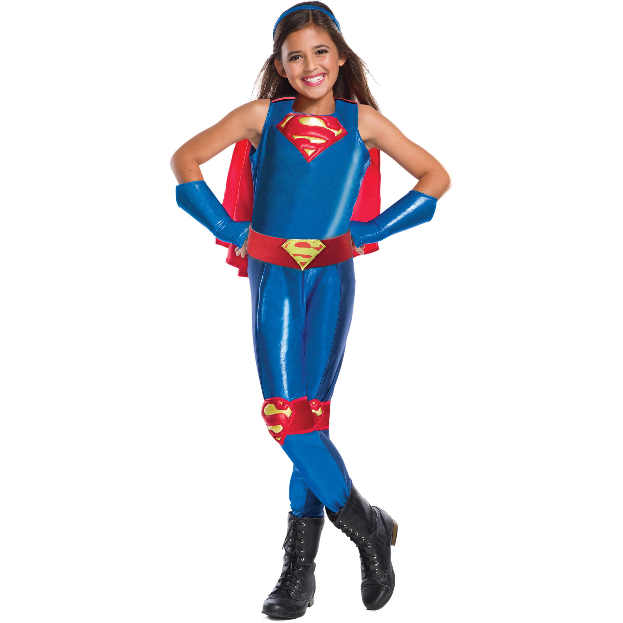 DC Girls Supergirl Child's Costume, Medium (8-10)