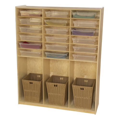 Wood Designs 16 Compartment Cubby Locker