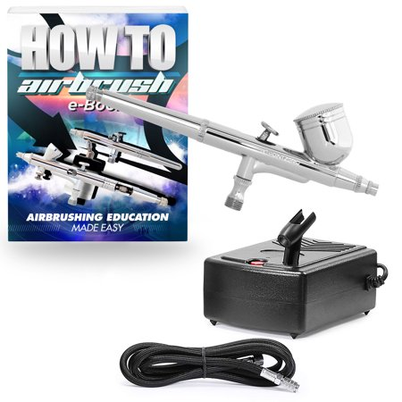 PointZero Multi-purpose Dual-action Airbrush Set - Mini Compressor