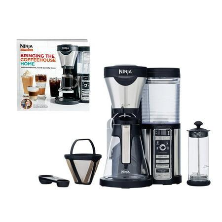 Ninja Coffee Bar Coffee Bar w/Glass Carafe, Frother & 100 Recipe Cookbook CF080W - Walmart.com