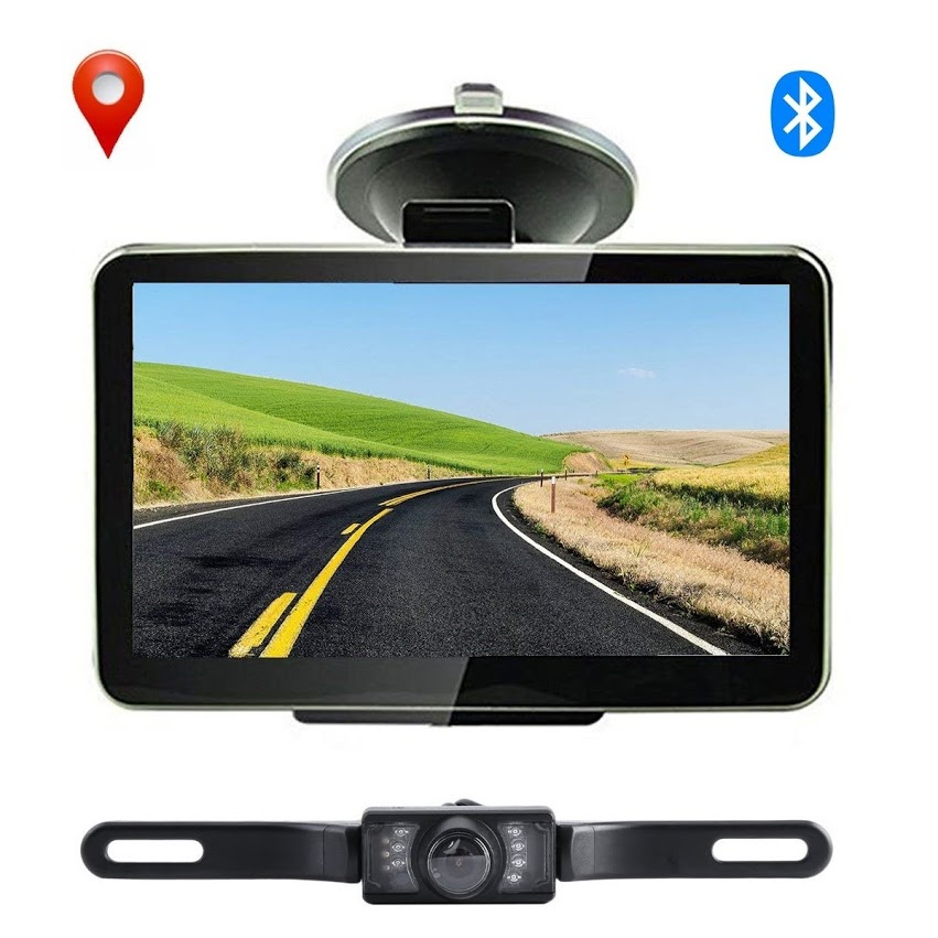 7'' Car GPS Navigation Devices Auto GPS Navigation+Wireless Rearview Camera Bluet ooth 4GB US Map