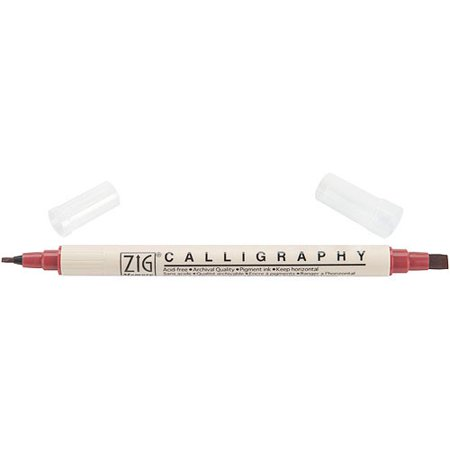 Zig Memory System Calligraphy Dual-Tip (Baby Pink Buttery Leather)