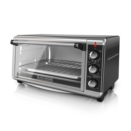 BLACK+DECKER 8-Slice Extra-Wide Stainless Steel/Black Convection Countertop Toaster Oven, Stainless Steel, TO3250XSB Commercial Stainless Steel Oven