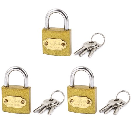 3pcs Chain Gate Cabinet Door Locking Security Shackle Padlock With