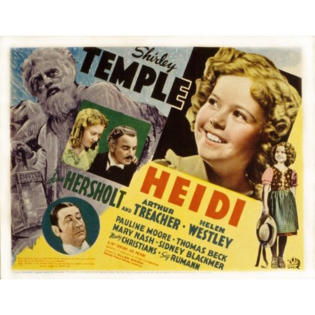 Heidi Shirley Temple Jean Hersholt Marcia Mae Jones Arthur Treacher 1937 Tm And Copyright 20Th Century Fox Film Corp All Rights Reserved  Courtesy Everett Collection Movie Poster Masterprint