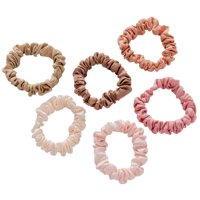 Lokks™ Blush Mini Scrunchies, 6 pack