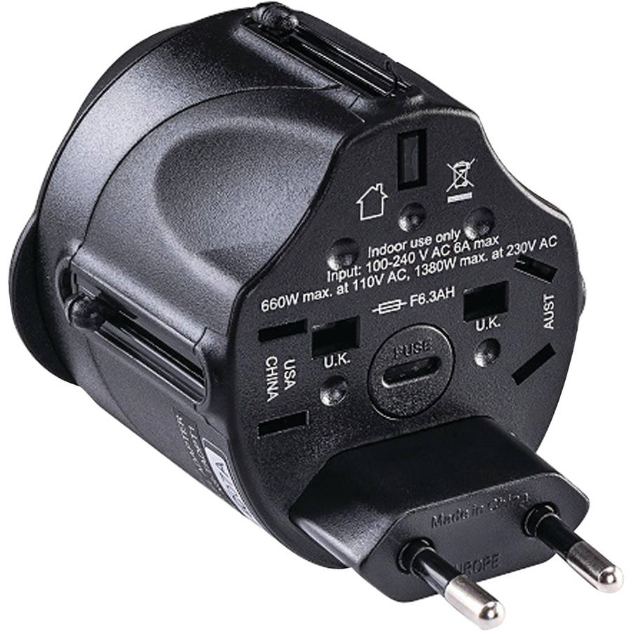 CyberPower TRA1A2 All-in-One Travel Adapter Plug by Cyberpower