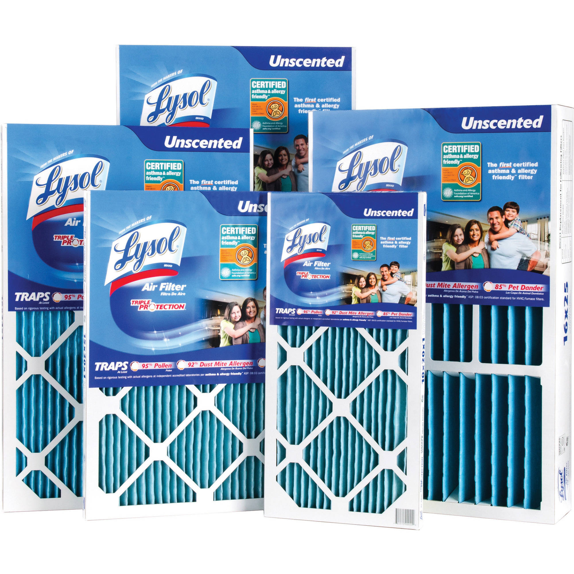 Lysol Triple Protection Air Filters, 6-Pack 10001-106-0006