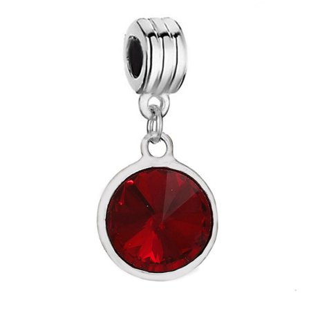 Sparkles  January  Birthstone charms Dangling Spacer Beads for Bracelets or Necklace European