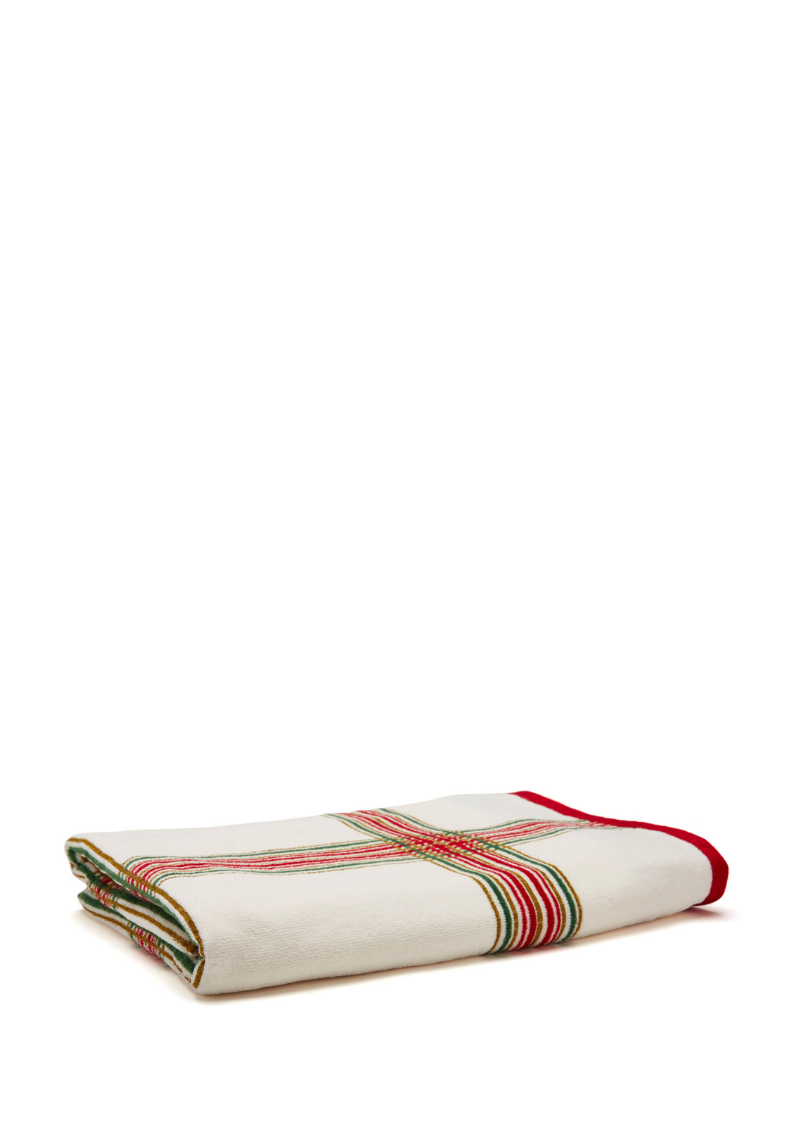Lenox Holiday Nouveau Plaid Christmas Bath Towel