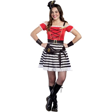 Cap'n Cutie Teen Halloween Dress Up / Role Play Costume - His N Hers Halloween Fancy Dress