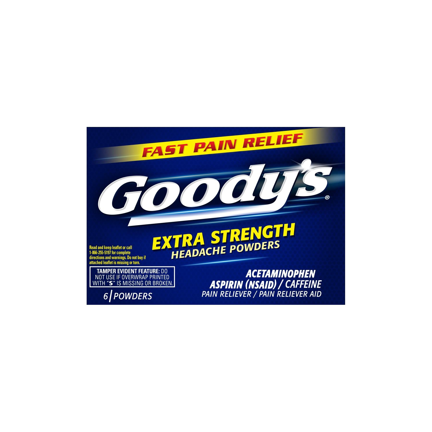 (2 Pack) Goody's Extra Strength Headache Powder, 6ct