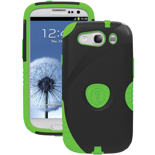 Trident Aegis Series Case for Samsung Galaxy S3 III - Black/Green