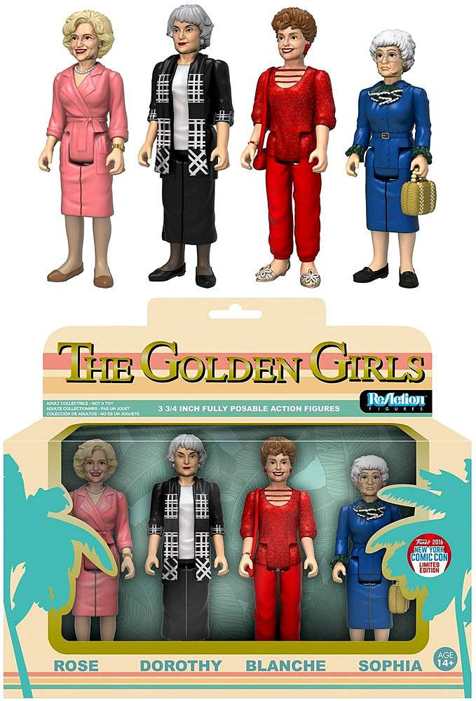 Funko Golden Girls ReAction Rose, Dorothy, Blanche & Sophia Action Figure 4-Pack by