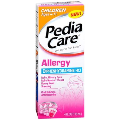 PediaCare Children's Allergy Liquid Bubble Gum 4 oz (Pack of 3)