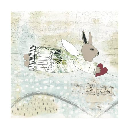 Bunny Angel Print Wall Art By Sarah Ogren