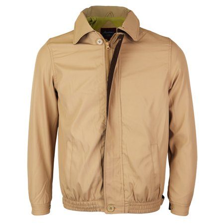 Men's Microfiber Golf Sport Water Resistant Zip Up Windbreaker Jacket BENNY (Khaki / Brown,4XL)