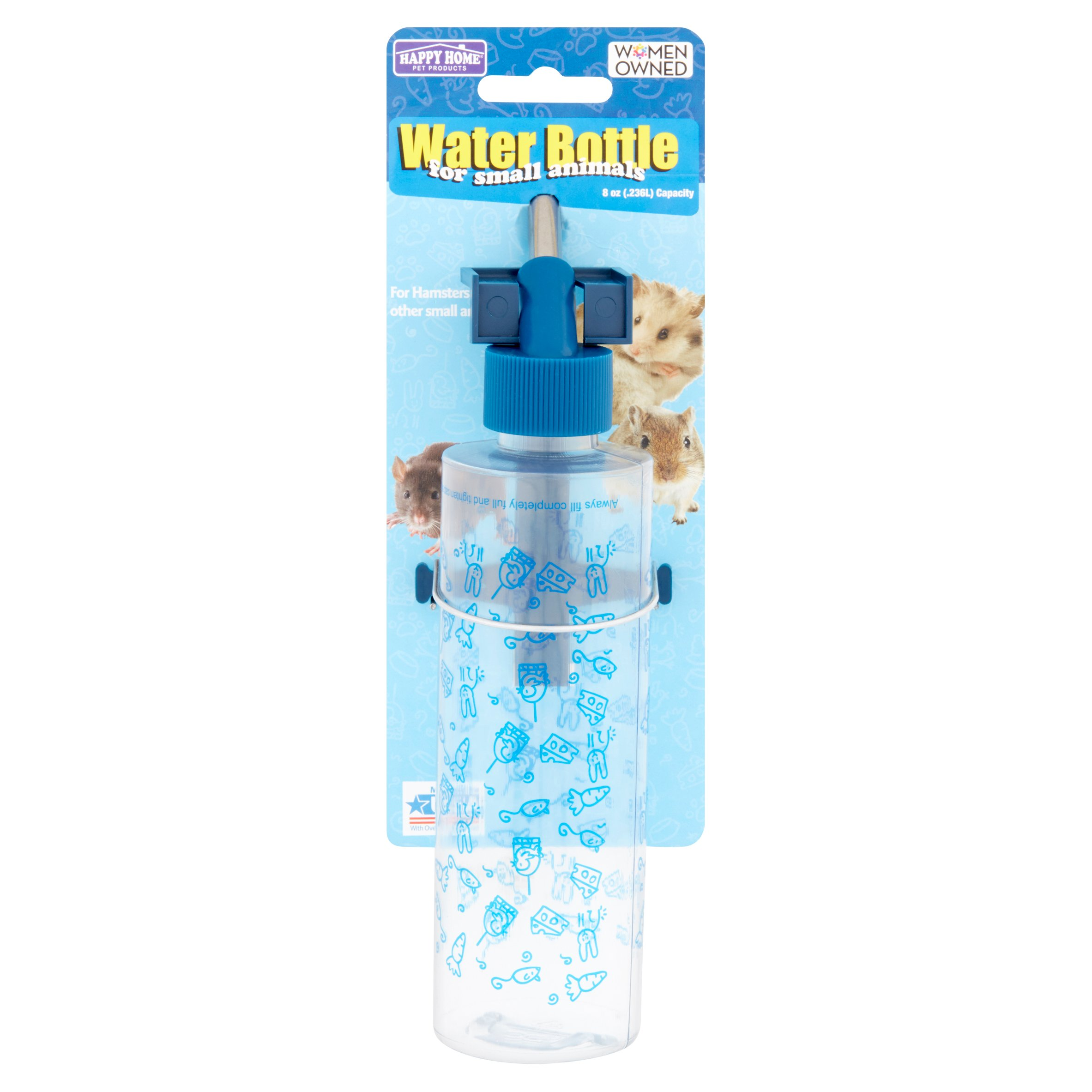 Happy Home Pet Products 8 oz Water Bottle for Small Animals