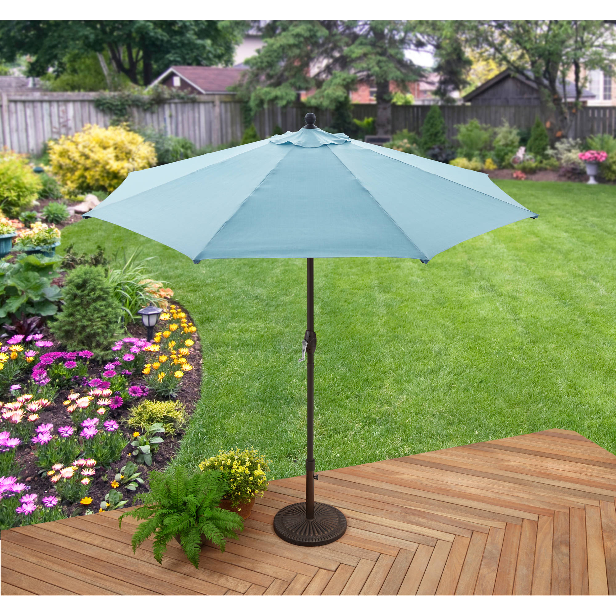 Better Homes and Gardens 9' Market Umbrella, aqua by