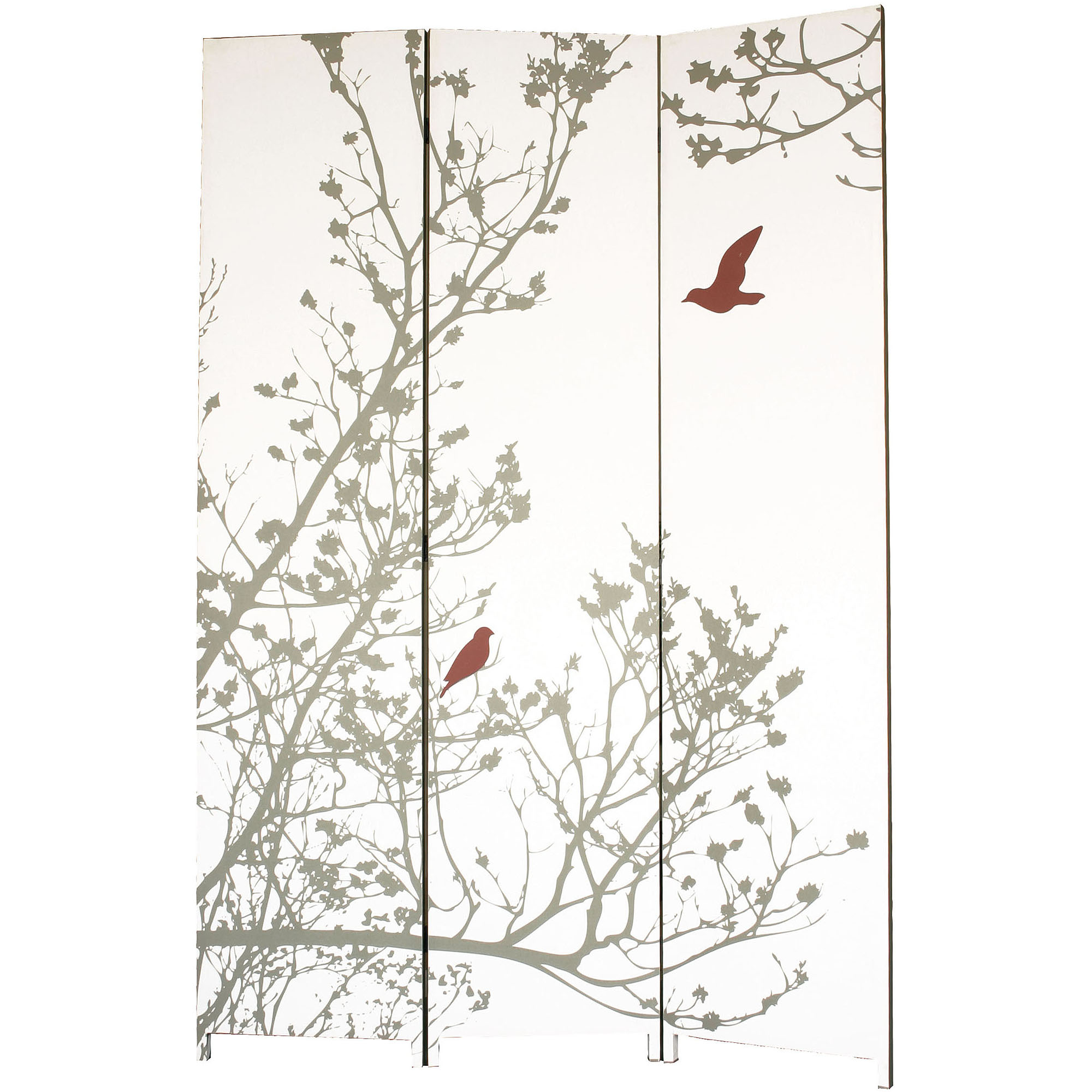 "Kiera Grace Bota Stretched Canvas Triple-Panel Floor Screen, Trees with Bird, 47"" x... by Generic"