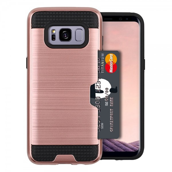 Case with Slidable card holder for Samsung Galaxy S8 Plus (White)