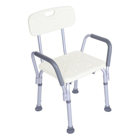 Ktaxon Adjustable Medical Shower Chair Bathtub Bench Bath Seat Stool Armrest Back White