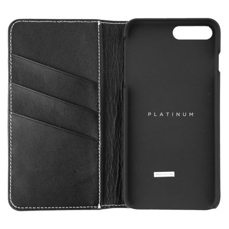 Leather Cell Phone Cover (Platinum PT-MA7PLFW - Flip cover for cell phone - leather - black - for Apple iPhone 7)