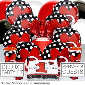 Ladybug Supplies (Ladybug Girls 1st Birthday Party Supplies Pack - 8)