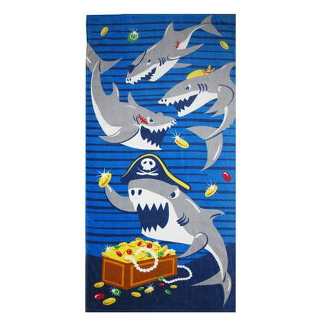 pirate shark fr beach towel com pirate shark fr beach towel