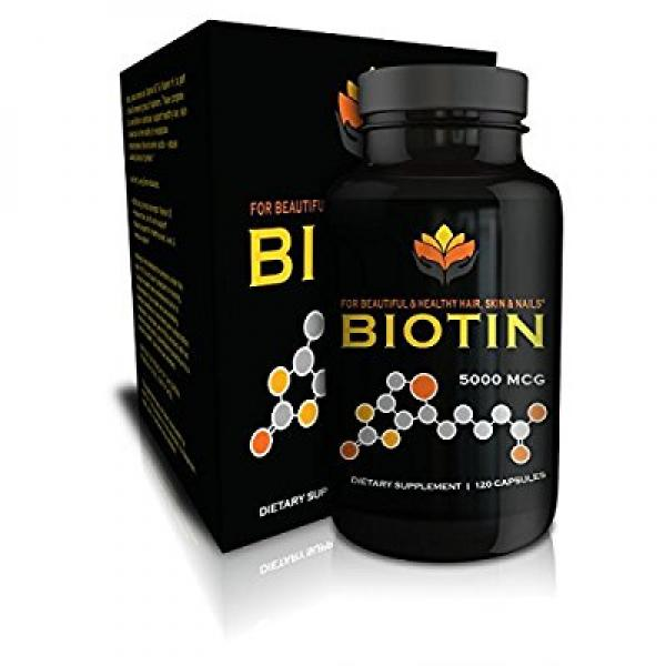 Me First Living Vegan-Friendly Biotin 5,000 MCG Vitamin Dietary Supplement Capsule for Hair, Skin and Nails, 120 Capsules