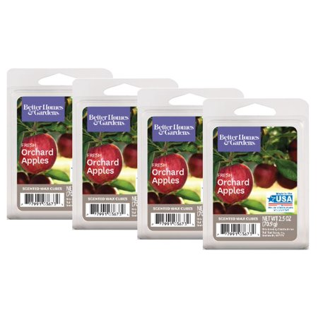 Better Homes & Gardens 2.5 oz Fresh Orchard Apples Scented Wax Melts, 4-Pack