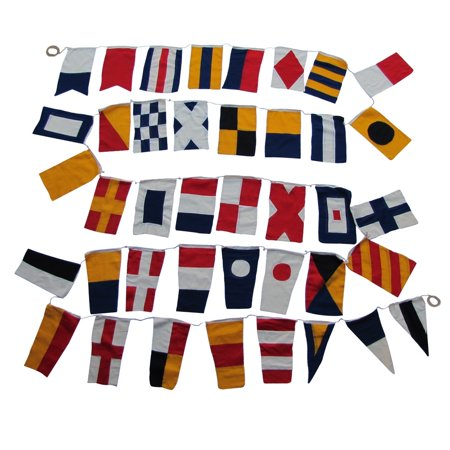 Set of 40 International Maritime Nautical Marine Signal Code Flags Boating Flag - International Code Signal Flag