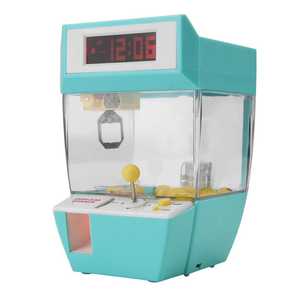 Mini 2 in 1 Electronic Crane Machine Toy LCD Display Alarm Clock Kids Children Gifts Electronic Crane Machine Toy Crane Toy