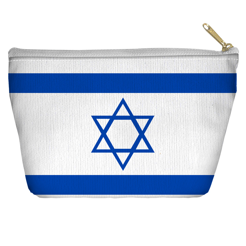 Israeli Flag International Flags World Nations Accessory Pouch Tapered Bottom by Trevco
