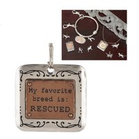 My Favorite Breed is: Rescued Plaque Pet Tag - By Ganz