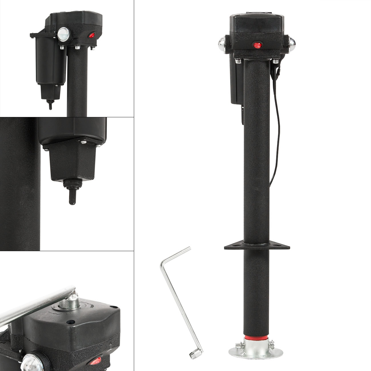 Click here to buy Arksen 12-Volt, Electric Power Tongue, A-Frame RV Trailer Jack, Adjustable Height 3500 LB by ARKSEN.