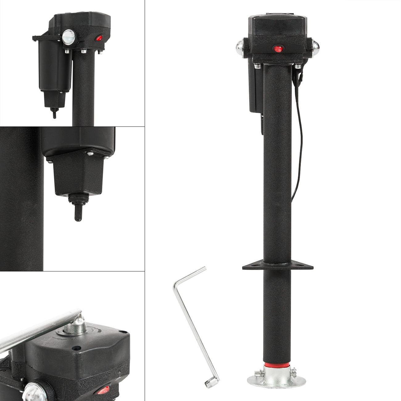 Arksen 12-Volt, Electric Tongue, A-Frame RV Trailer Jack, Adjustable Height - 3500 LB