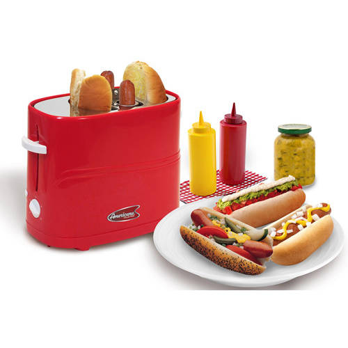 Americana by Elite Hot Dog Toaster, Red